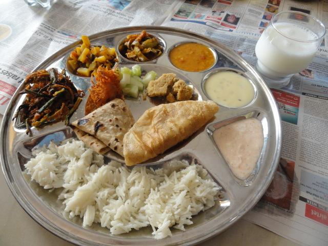 Gujarati Thali at home (2/2)