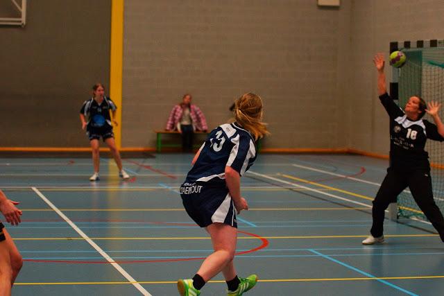 doelpunt gescoord door Bieke Vanhauwaert