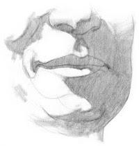 Draw lips step 4
