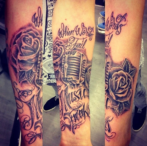 Music tattoos