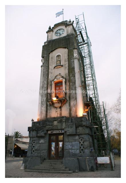 the clock tower in Alta Gracia