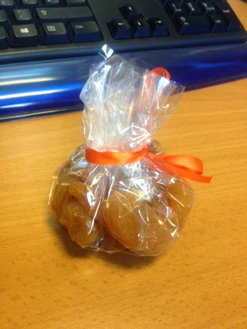 Celophane-wrapped dried apricots