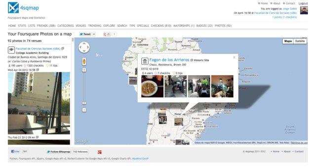 4sqmap, o ver tus fotos en el mapa