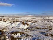 A Snowy Landscape Looking Away From Curbar Edge