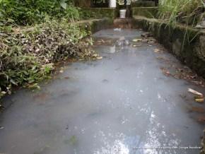 Jabón en el caudal ecológico