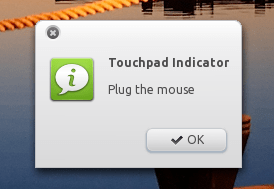 Touchpad indicator - plug mouse