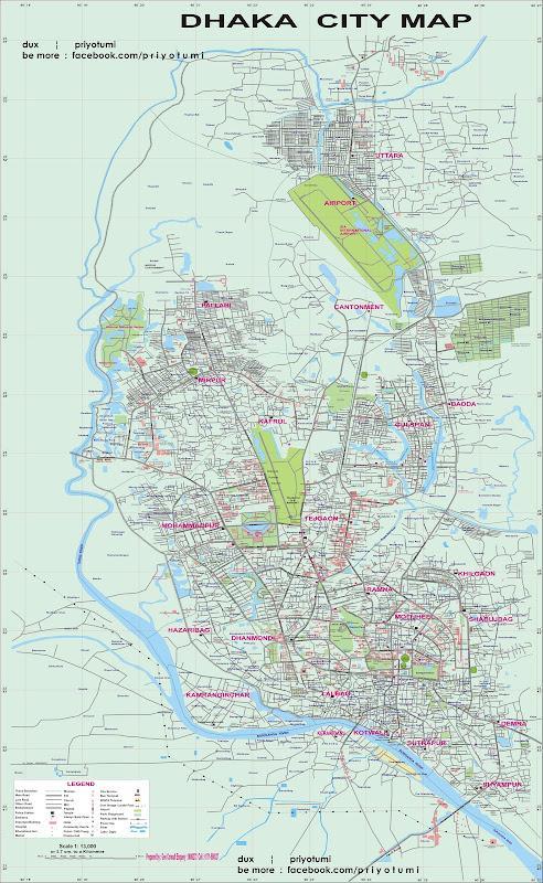 dhaka city map bangladesh Dhaka City Map In Very Large Size May2011 Final Bangladeshi dhaka city map bangladesh
