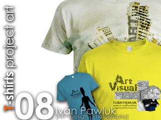 Magazine Portfolio T-shirts project art