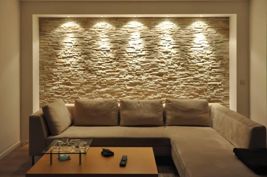 Wohnzimmergestaltung Wand Beispiele