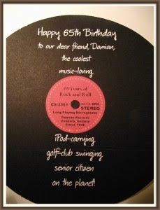 65th birthday card verses card design