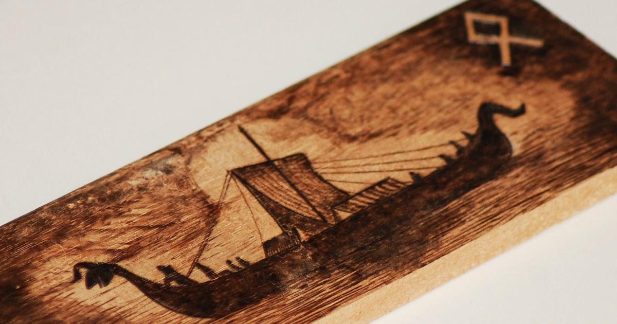 Viking Wood Carving Template