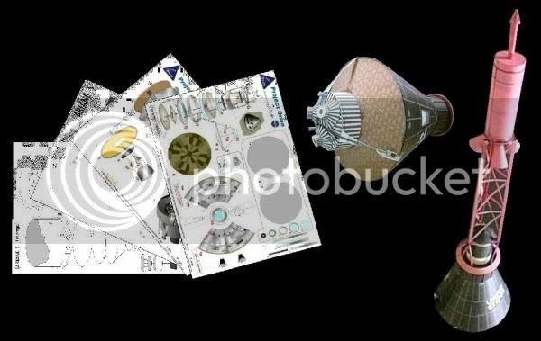 PAPERMAU Mercury Capsule Paper Model by Pe2tr Card Models