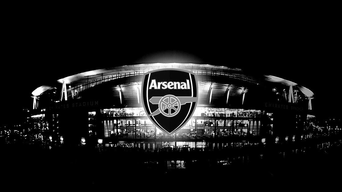 arsenal logo black wallpaper