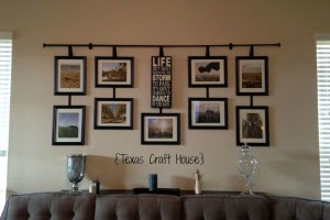 Connoisseur of Creativity: DIY Curtain Rod Wall Decor with ... on Picture Hanging Idea  id=35151