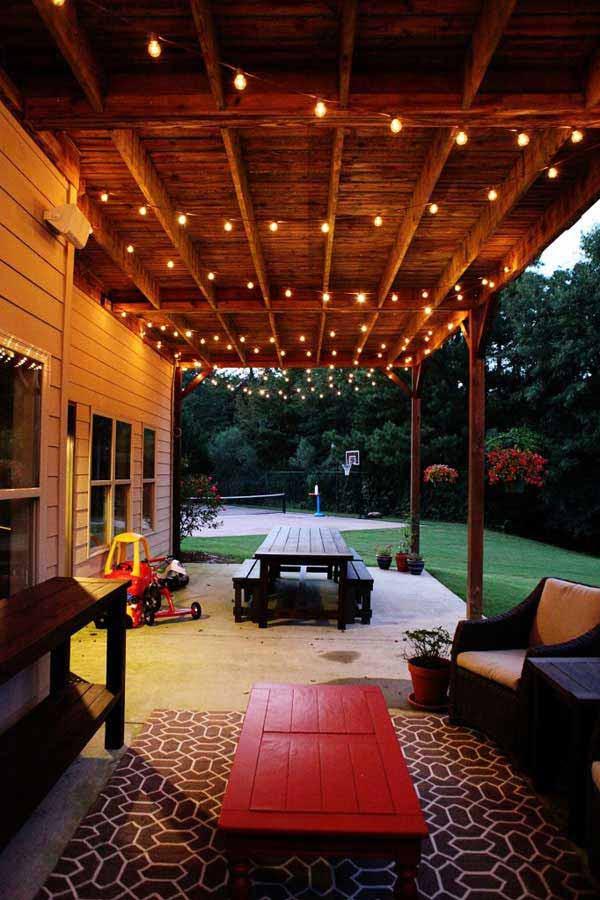 26 Breathtaking Yard and Patio String lighting Ideas Will ... on Backyard String Light Designs id=91417