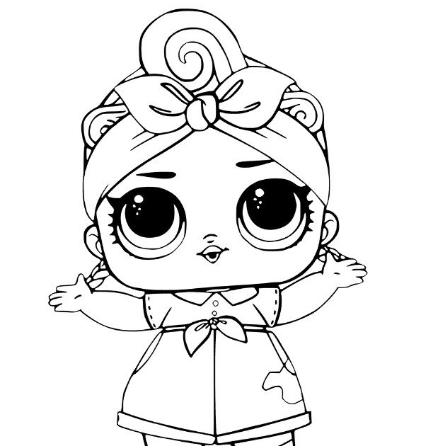 Coloring Pages Kitty Queen Lol