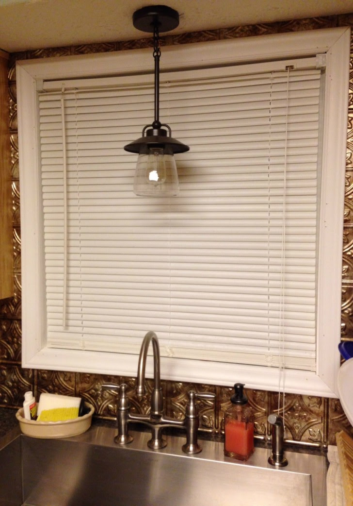 cabinet kitchen sink lighting hanging