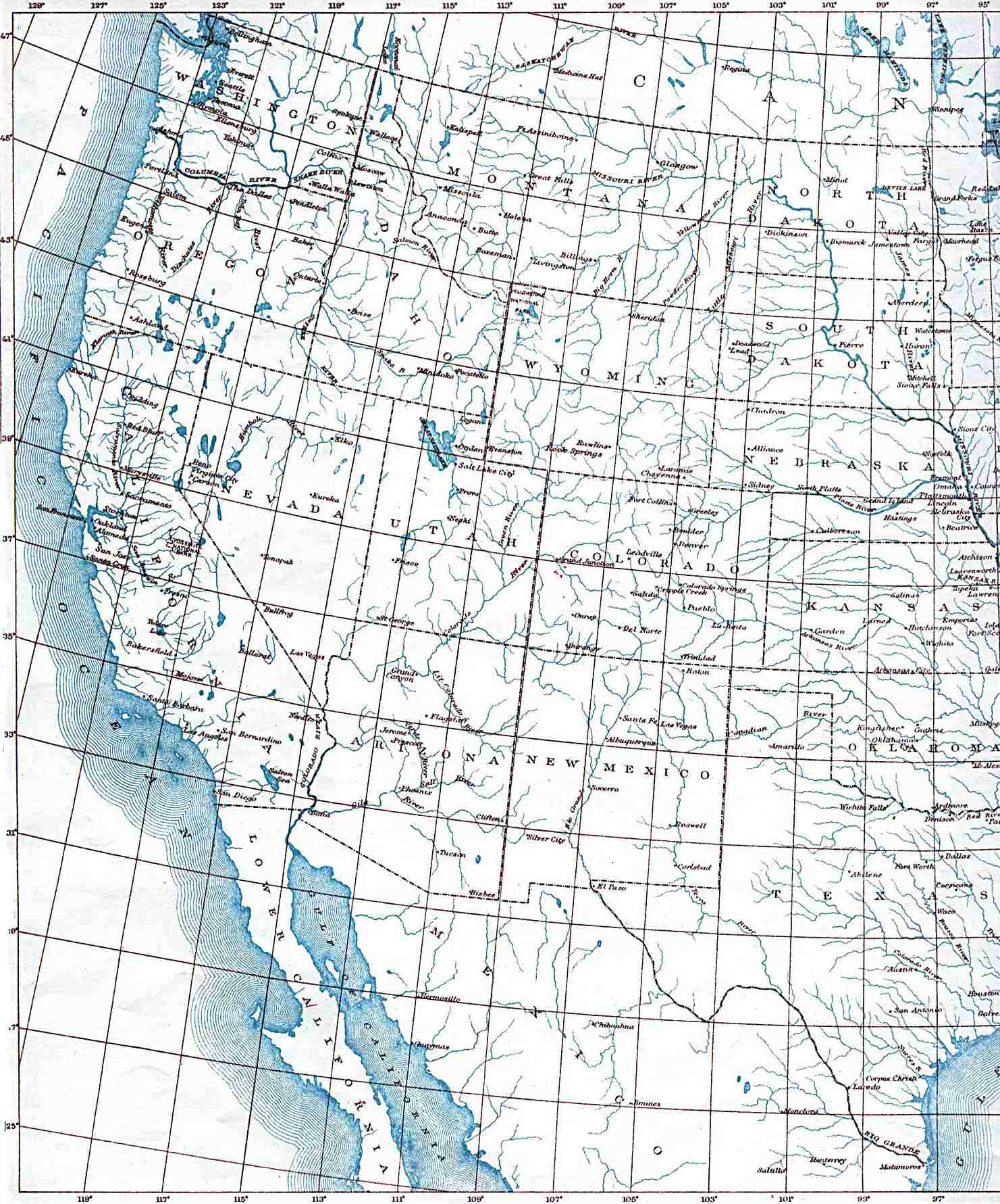 How do these lines work together? Us Map Latitude And Longitude