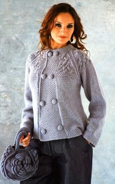 Как связать свитер: Кофты вязаные спицами . Приёмы вязания