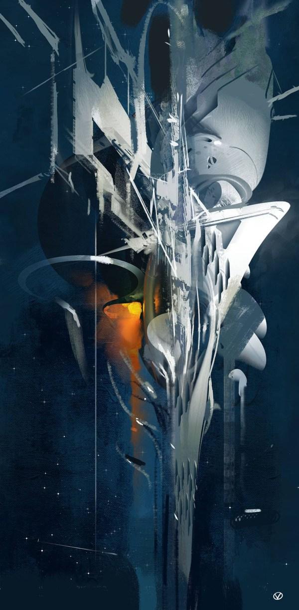 concept ships: John Berkey tribute speed painting challenge