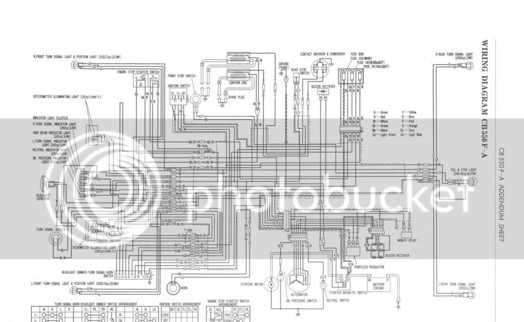 Honda CB550F Rebuild: CB550F Wiring Diagram
