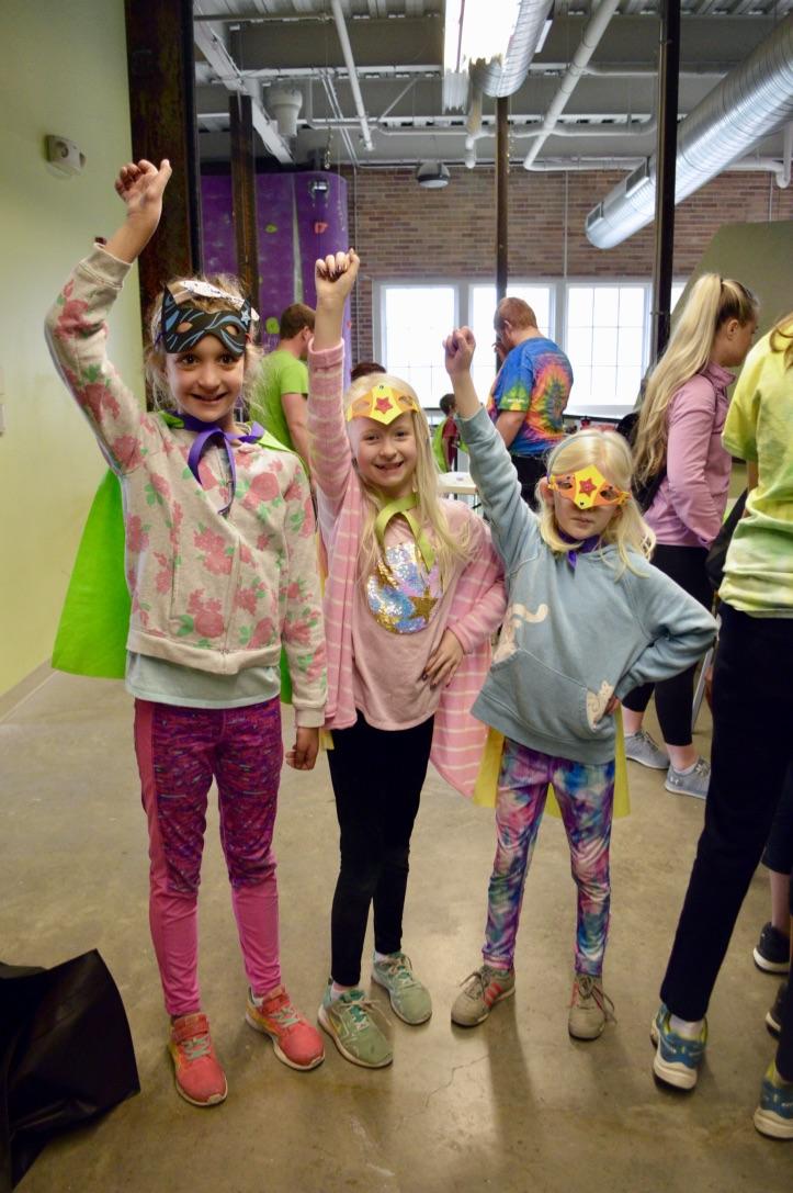 GRADS Participants Dressed Like Super Heroes