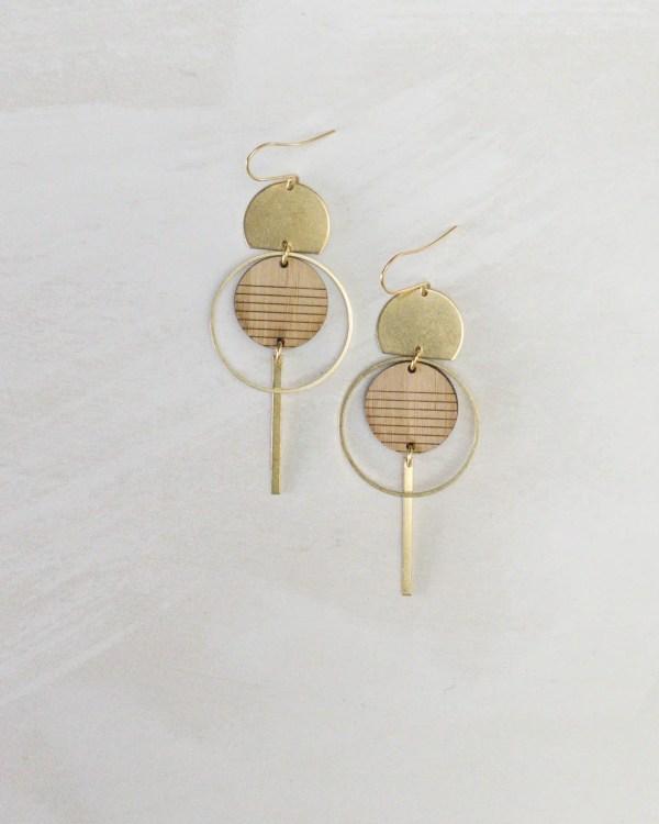 striped bamboo jewelry