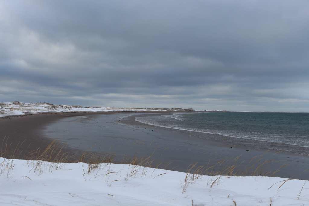 A Langlade, le coin du sable en hiver - Saint-Pierre et Miquelon