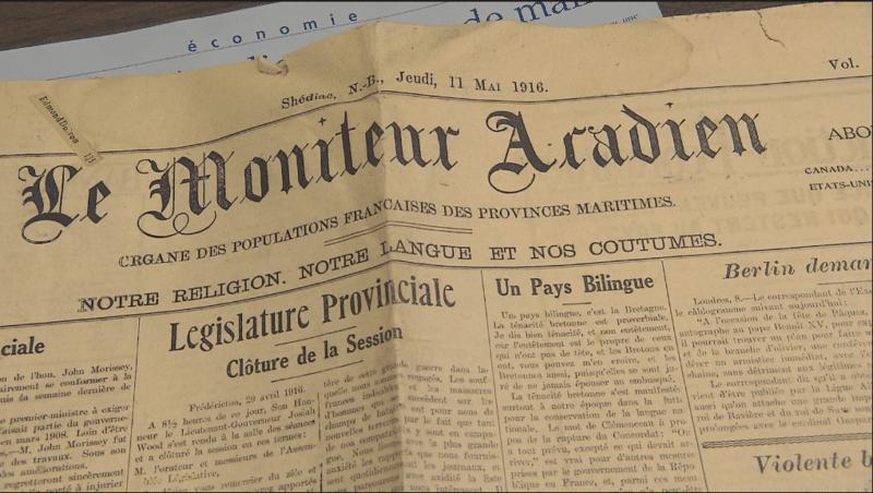 Une du Moniteur Acadie en 1916