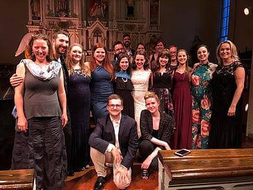 Groupe des jeunes participants de l'Académie de l'été musical de Barachois