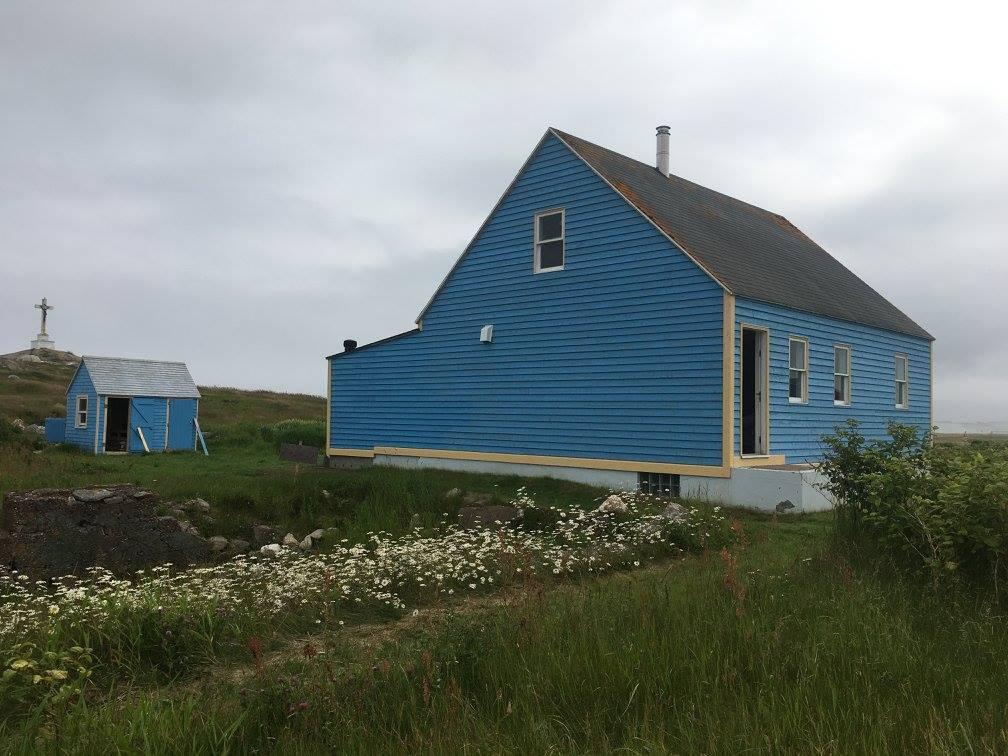 maison bleue à l'ile aux marins