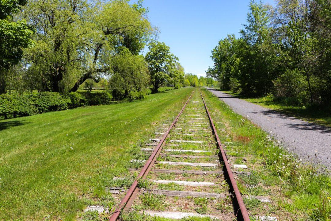 L'ancienne voie ferrée à Grand Pré