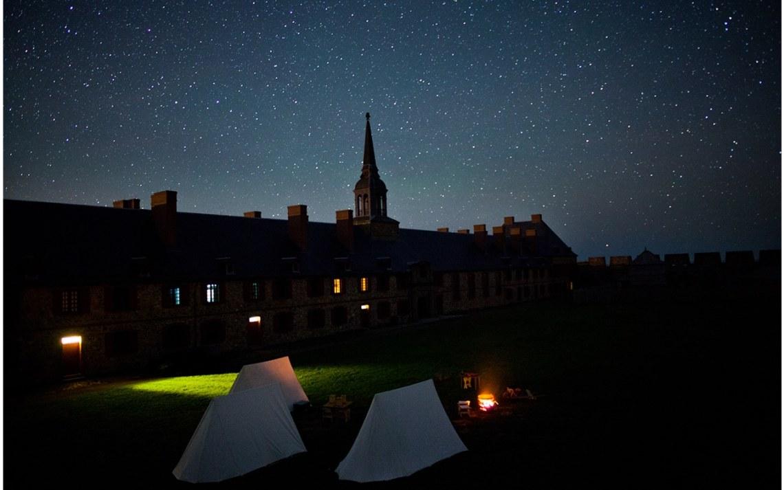 nuit à la forteresse de louisbourg