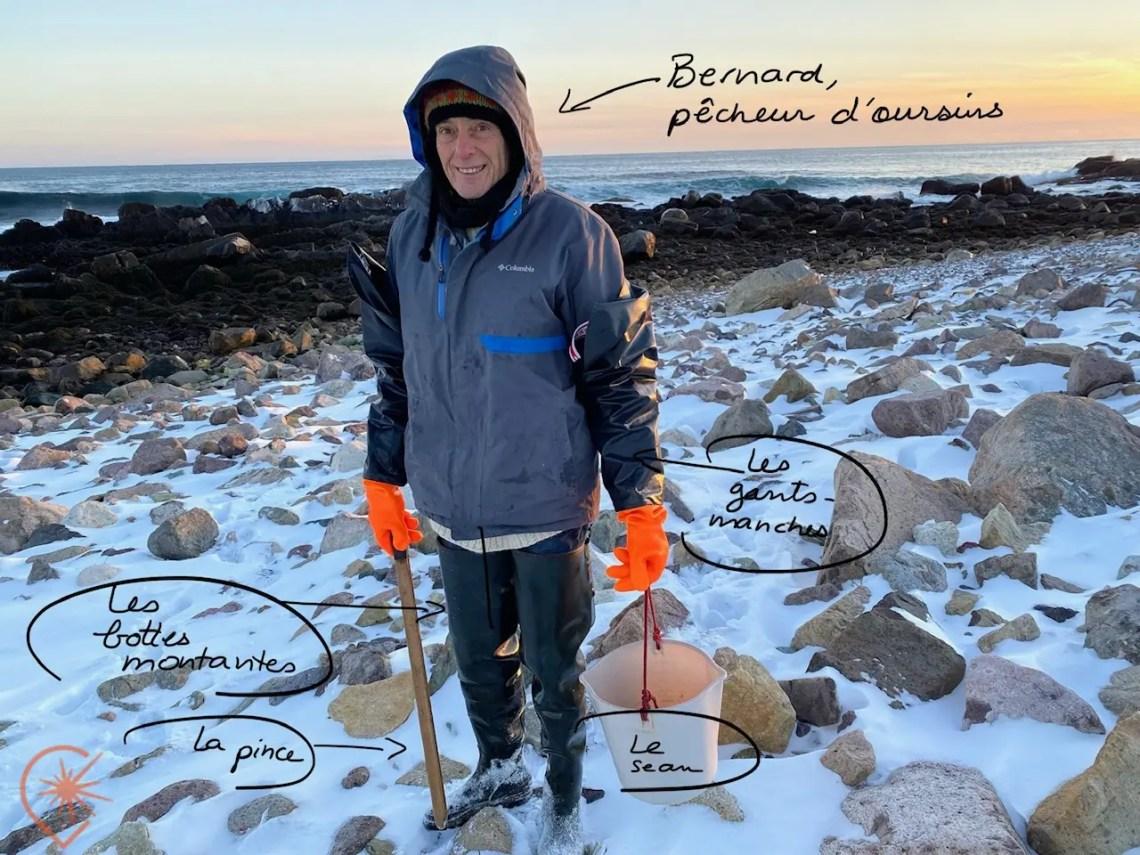 la pêche aux oursins saint-Pierre et Miquelon
