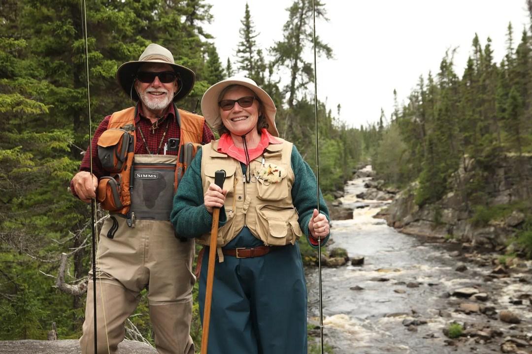 Lise et Gary pêcheurs à la mouche Miramichi