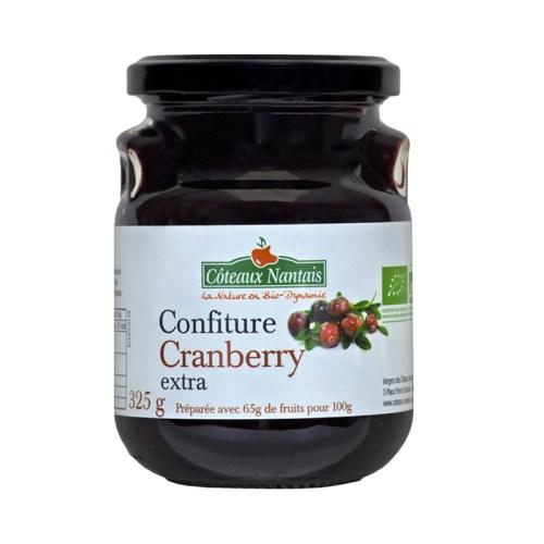 confiture cranberry extra coteaux nantais
