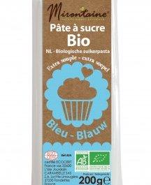 Pâte à sucre BIO bleue 200 g