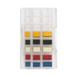 Moule à chocolat polycarbonate briques constructions 24 cavités – Decora
