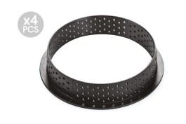 Cercle composite Ø 100 H 2 CM Tarte Ring Round x4 – Silikomart