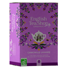 Infusion camomille lavande 20 sachets plats – English Tea Shop