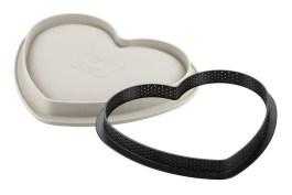 Kit tarte mon amour moule silicone + cercle polyglass coeur Ø220 – Silikomart