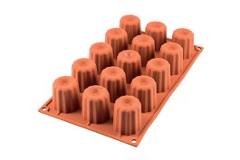 Moule silicone 15 cannelés  SF 059 Ø 45 H 45 MM – Silikomart