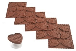 Kit biscuit cœur lettre x5  – Silikomart