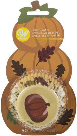 Caissettes cupcakes citrouille x50 – Wilton