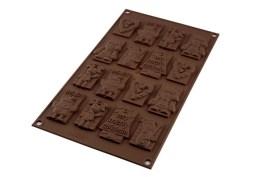 Moule silicone chocolat Xmas Choco Tags – SF146 – Silikomart
