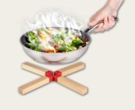 Dessous de plats Bambou silicone rouge – Wenko