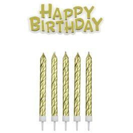Bougies Happy Birthday Or – PME