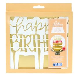 Emporte pièce cake topper happy birthday moderne – PME