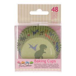 Caissettes à cupcakes dino – 48 pcs – Fun Cakes