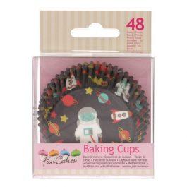 Caissettes à cupcakes espace – 48 pcs – Fun Cakes